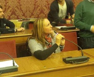 Deborah Pantana in Consiglio comunale