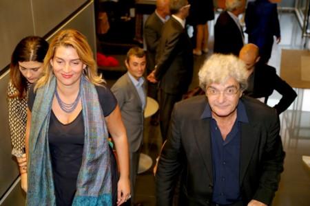 L'arrivo del regista Mario Martone