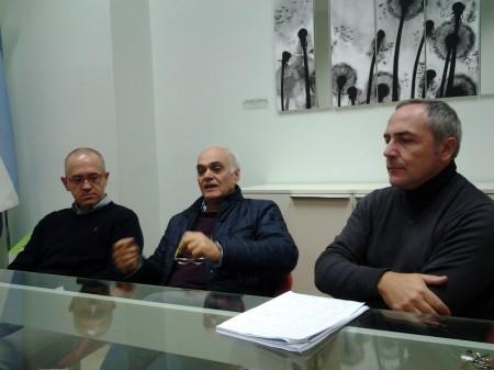 da sinistra Fabrizio Ciarapica, Massimo Mobili e Giovanni Corallini