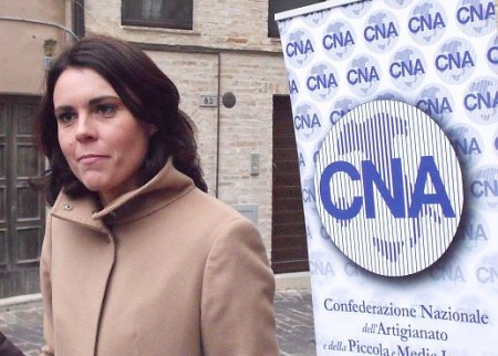 Simona Bonafè in un recente incontro a  Monte San Giusto