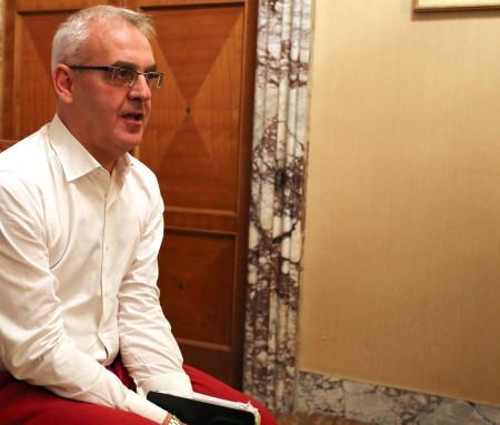 Romano Carancini ha annunciato ieri la sua candidatura alle primarie
