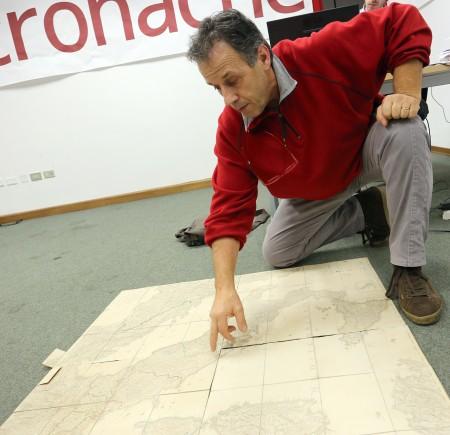 Antonio Volpini mostra una cartina simile a quella utilizzata dai Pink Floyd