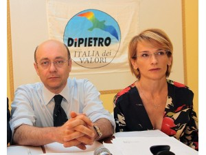 David Favia e Paola Giorgi, già insieme in Idv