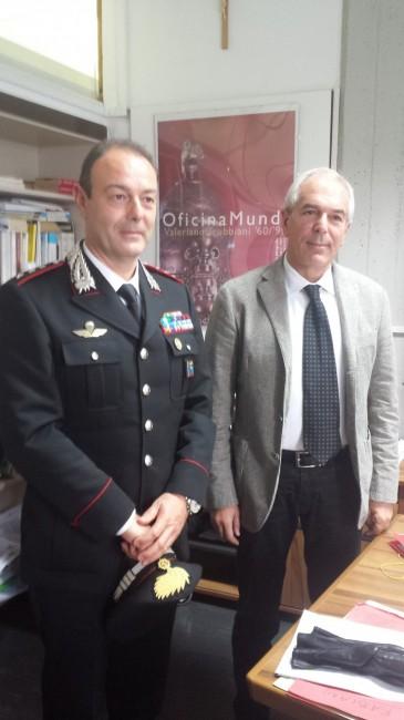 Da sinistra il capitano Enzo Marinelli, e il procuratore Giovanni Giorgio