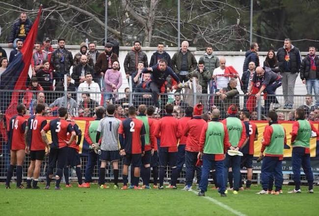 La Civitanovese chiede scusa ai suoi tifosi (foto Binci)