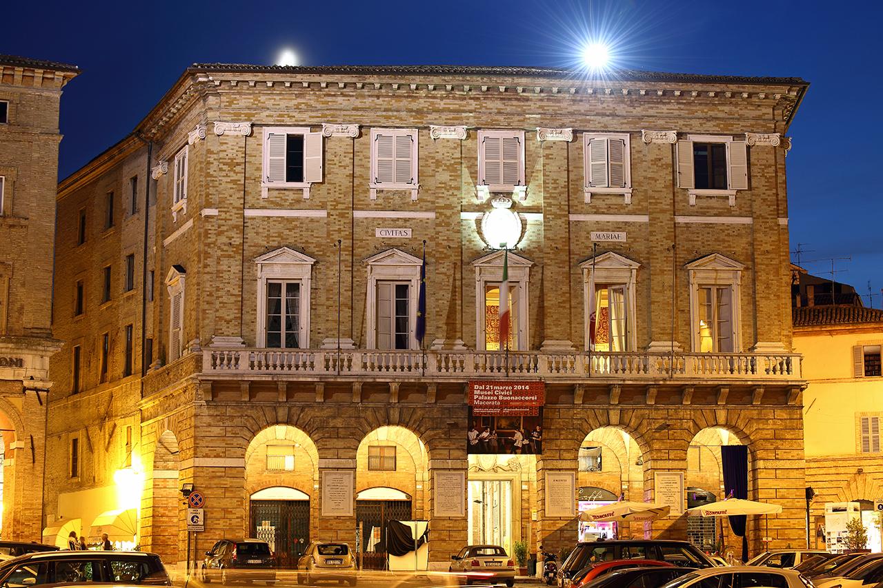Il palazzo del municipio di Macerata