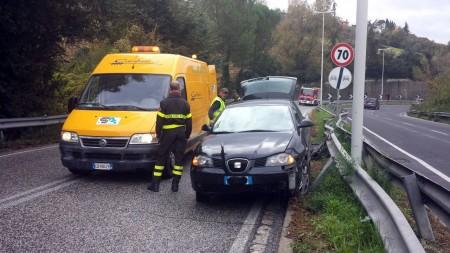 Un incidente in via Mattei