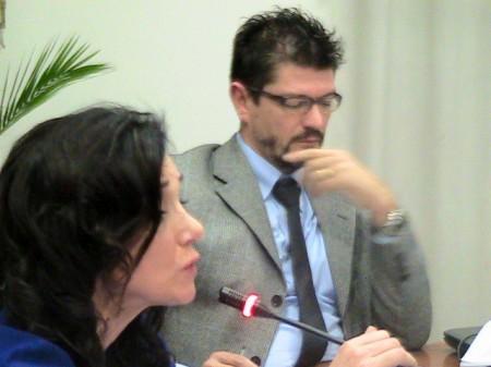Il vice sindaco Lorenzo Riccetti durante il Consiglio sul Burchio