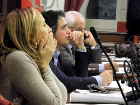 Deborah Pantana e Fabio Pistarelli in Consiglio comunale