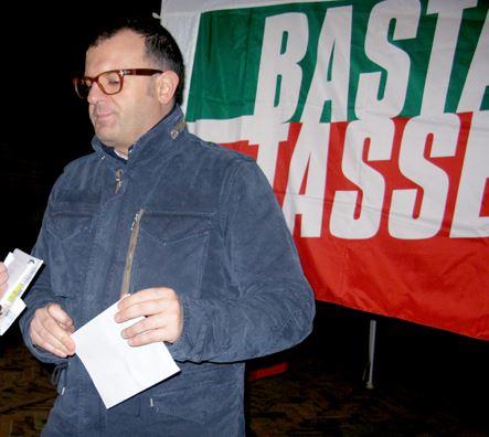Riccardo Sacchi durante il banchetto
