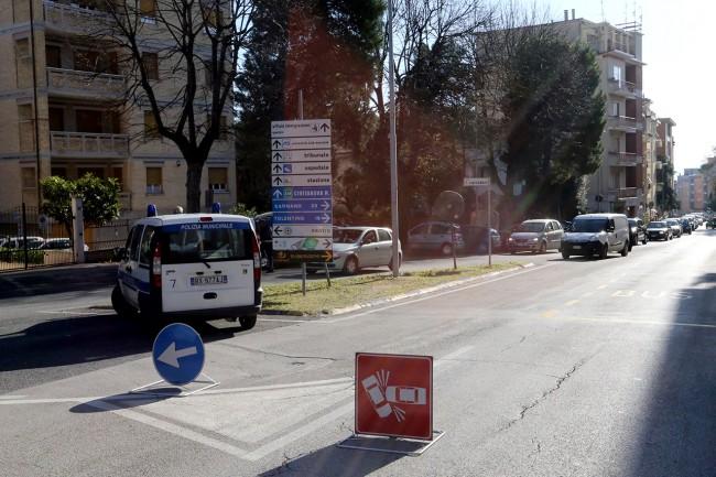 Uomo investito Via Spalato Macerata (1)