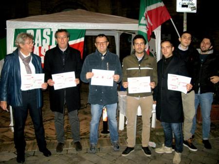 Gli esponenti Forza Italia presenti al No Tax Day