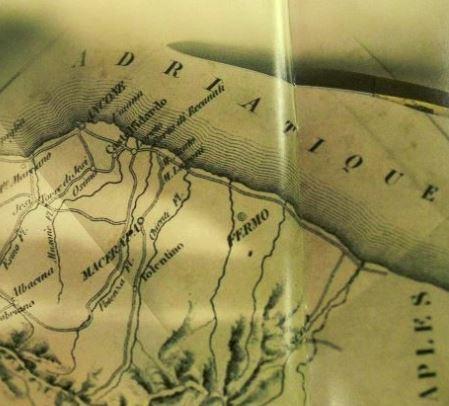 """Un particolare della mappa contenuta nell'album dei Pink Floyd """"The Endless River"""""""