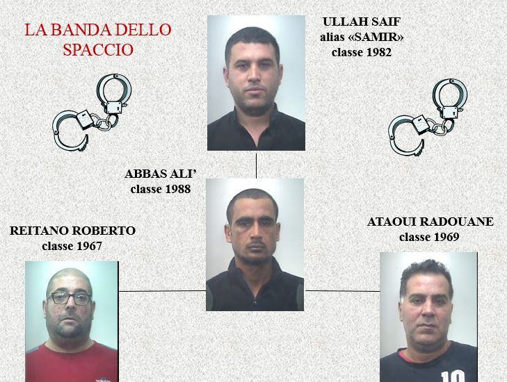 I quattro arrestati