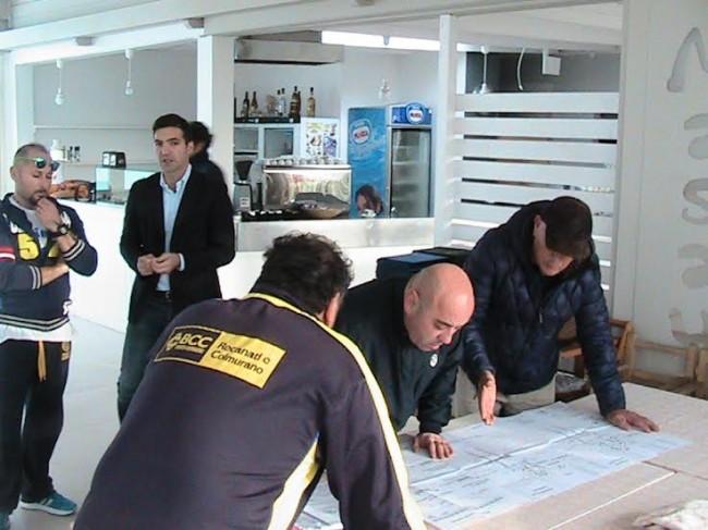 Il sindaco di Potenza Picena in visita agli operatori balneari