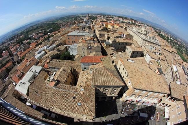 Panoramica dalla torre civica