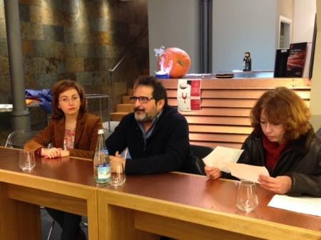 Da sinistra Lucia Biagioli, Alessandro Valori e Valentina Capecci