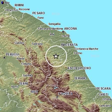 Ultime Notizie:  La terra trema, 8 scosse in un?ora  tra Ascoli e Macerata