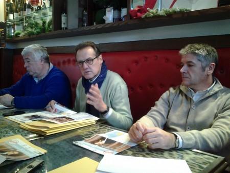 Nella foto Ottavio Brini, Erminio Marinelli e Claudio Morresi