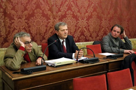 Guido Garufi e Giuliano Meschini questo pomeriggio in Consiglio