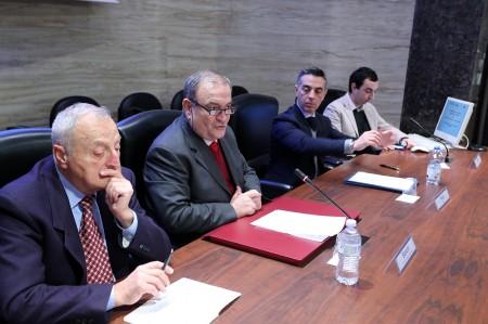 La riunione di ieri alla Camera di commercio, al centro il presidente Giuliano Bianchi