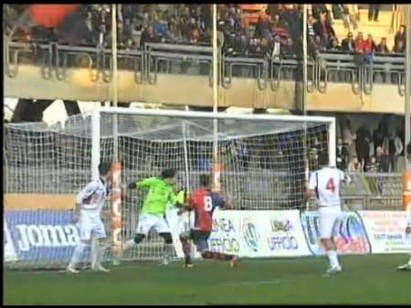 Il gol dell'1 a 0 realizzato da Carteri