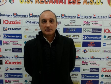 Il neo allenatore della Recanatese Lamberto Magrini