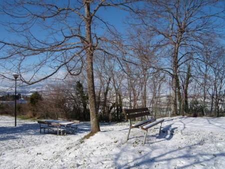 Neve al Sasso d'Italia a Macerata (foto Francesco Fugante)