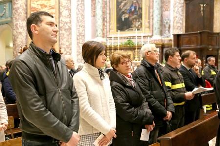 I familiari di Roberto Torregiani, da sinistra il cognato, la sorella Rita e i genitori