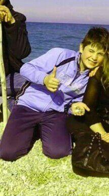Simone Forconi in un momento felice dell'estate scorsa