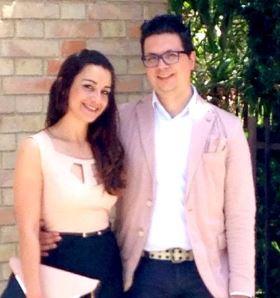 Marta Bitti con il suo fidanzato Alver Torresi