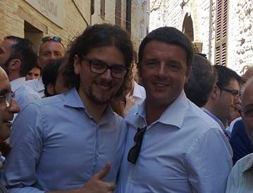 Stefano Cencetti con Matteo Renzi