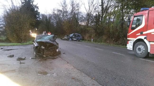 Le due auto rimaste coinvolte