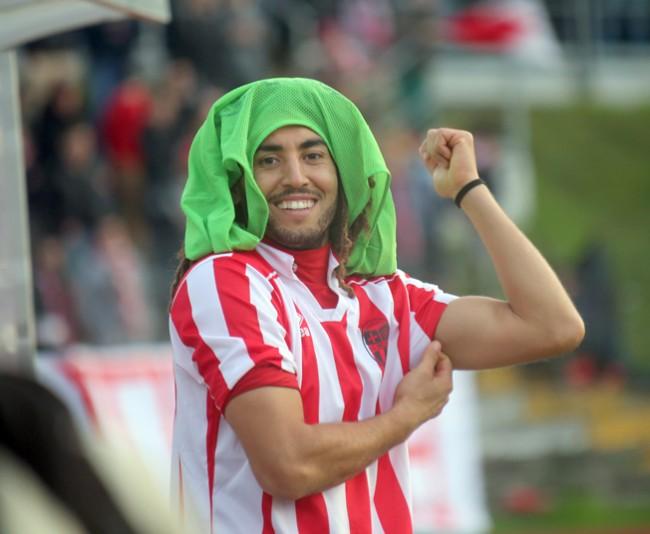 Yassine Belkaid con la maglia della Maceratese: per lui si profila un ritorno in biancorosso