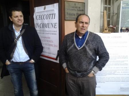 L'assessore all'urbanistica Francesco Micucci e il sindaco Tommaso Corvatta