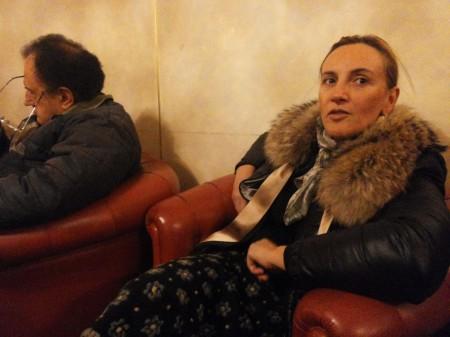 Deborah Pantana all'incontro di Casapound a Caffè Venanzetti