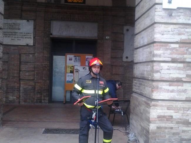 Il capo distaccamento di Tolentino, Elvio Tedeschi
