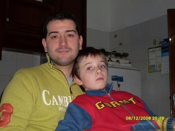 Simone con papà Enrico