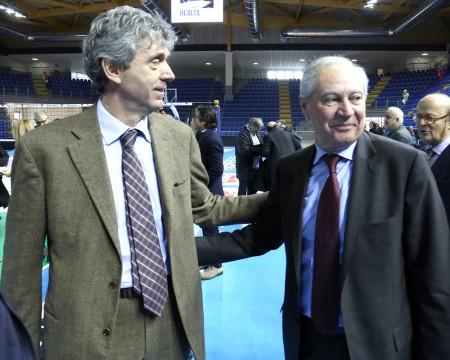 Albino Massaccesi, vice presidente Lube Volley e Fabio Sturanti, presidente Coni Marche