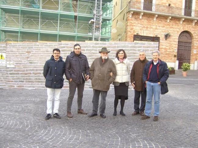 L'equipe dell'orologio nello scatto di F. Genili