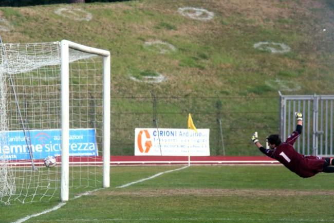 Il gol di Kouko porta in vantaggio la Maceratese