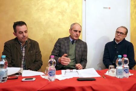 Marco Morresi, Romeo Renis e Mario Iesari, esponenti del Pd Nuovo Corso che nei giorni scorsi hanno confermato il loro sostegno a Carancini