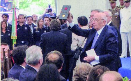 Napolitano a Serravalle nel 2007