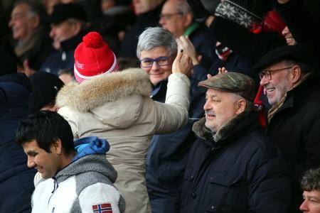 COMPLEANNO VINCENTE - La presidente Maria Francesca Tardella in tribuna: vittoria del derby come regal di compleanno