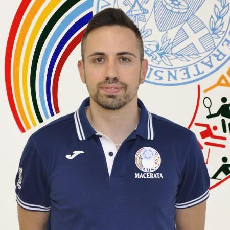 L'allenatore del Cus Macerata Tommaso Bacosi