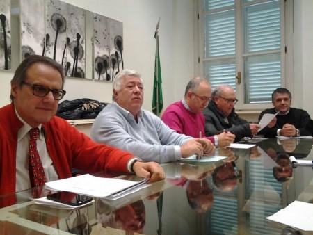 Da sinistra Marinelli, Brini, Ciarapica, Marzetti e Morresi