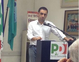 Il segretario del Pd Francesco Comi