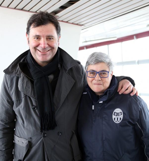 La presidente tardella con il nuovo consulente tecnico Giulio Spadoni
