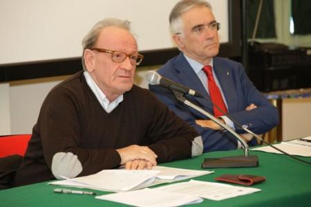 Pietro Marcolini affiancato dall'assessore Canzian