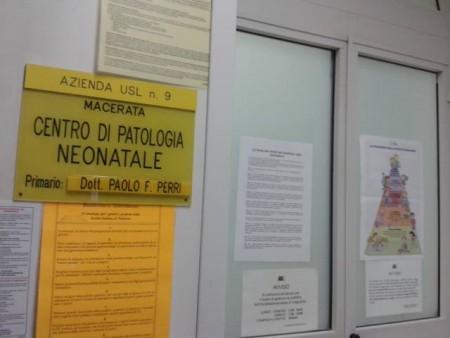 Il reparto di pediatria dell'ospedale di Macerata